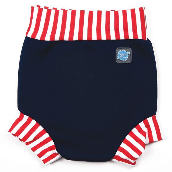 Happy Nappy™ Swim Diaper Navy Red Stripe