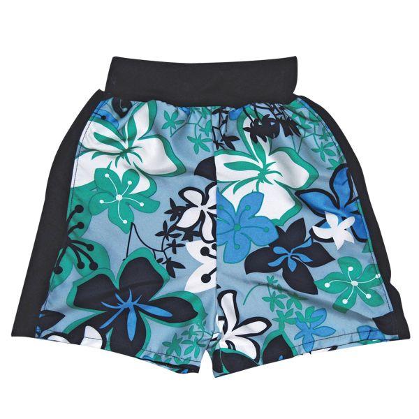 Splash Board Shorts Hibiscus Blue Large