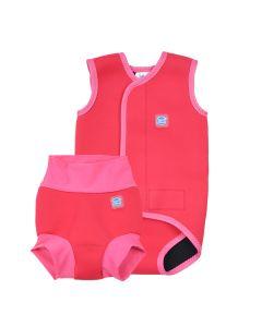 Happy Nappy and Baby Wrap Pink Geranium Bundle