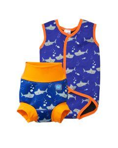 Happy Nappy and Baby Wrap Shark Orange Bundle
