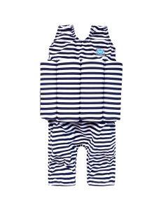 Short John Float Suit Navy & White Stripe